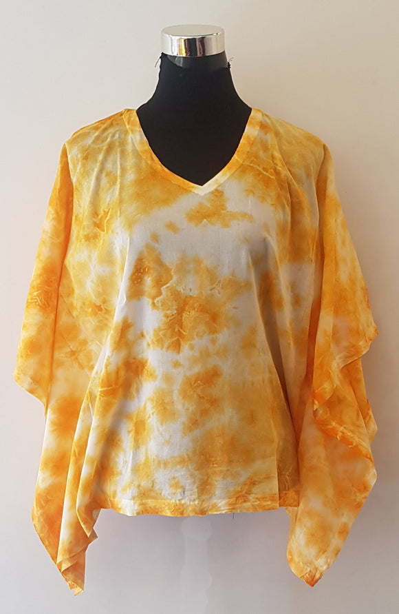 Shibori Orange Kaftan Top (C)
