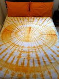 Shibori Orange Bed Cover with Pillow Covers (C)