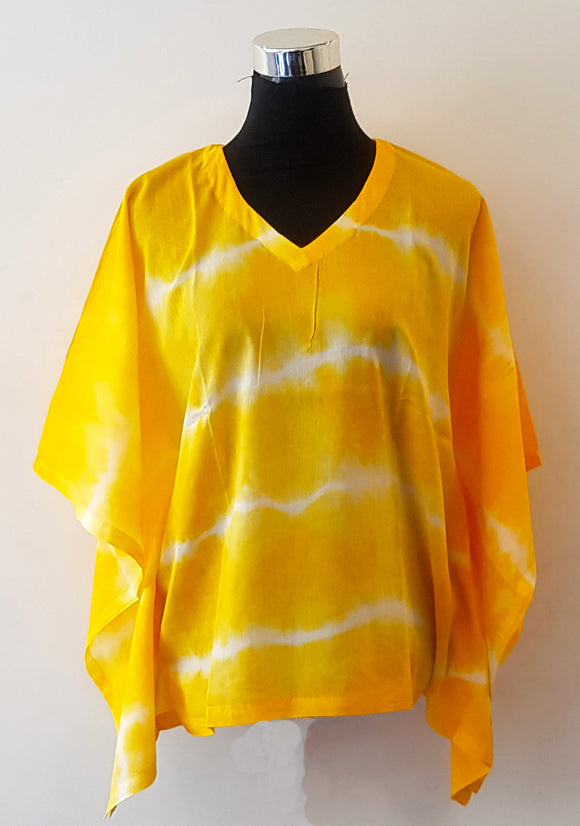 Shibori Yellow Kaftan Top (HL)