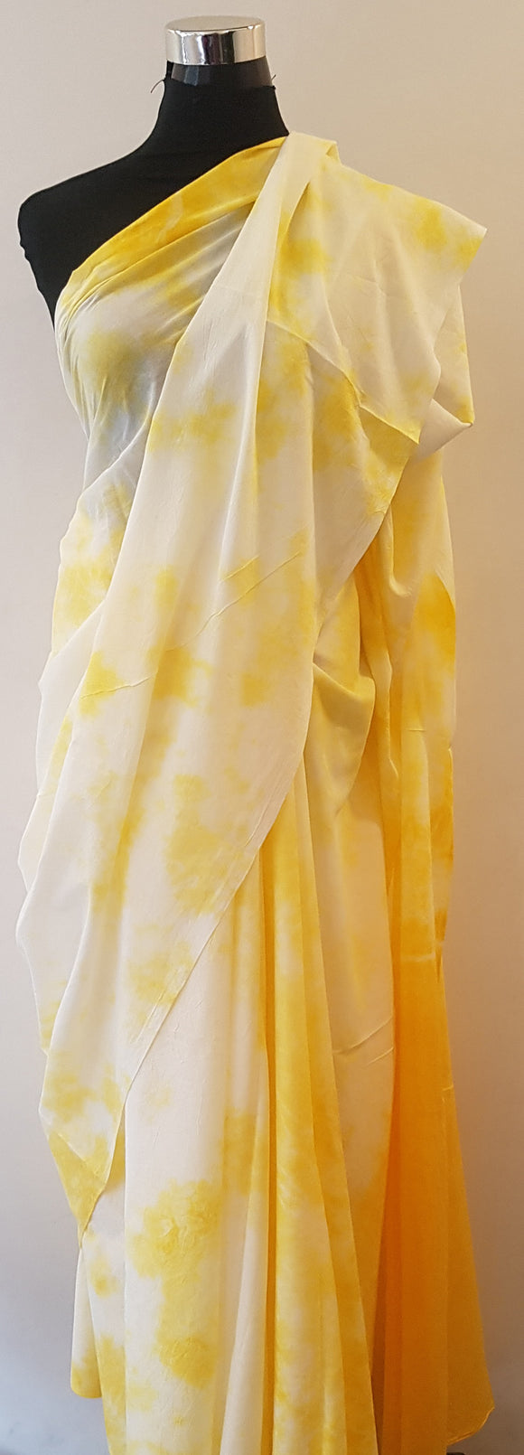 Shibori Yellow Saree (C)
