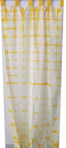 Shibori Sheer Curtain - Yellow