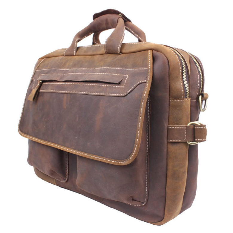 017dda40ce79 Men s Handmade Vintage Leather Briefcase   Leather Messenger Bag   15