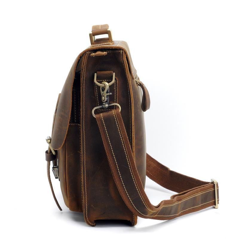 Leather Messenger Bag  Leather Briefcase Leather Laptop Leather Satchel fits Macbook Pro 13 133