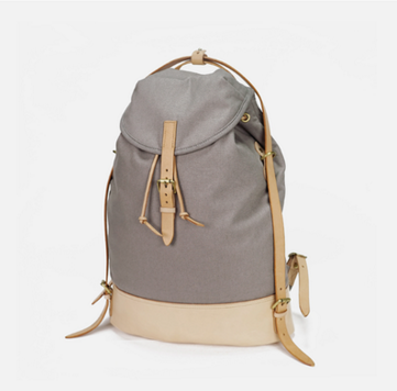 Casual Canvas Leather Backpack Hiking Bag ( L109)
