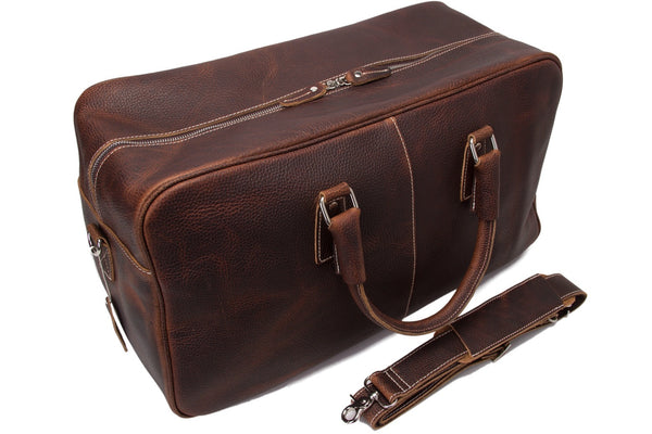 Handcrafted Vintage Genuine Leather Travel Bag  Holdall Weekend Bag Luggage Bag(M03)