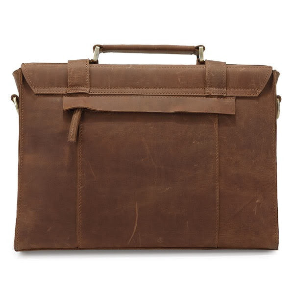 Vintage style Leather Briefcase / Messenger Bag (S21)