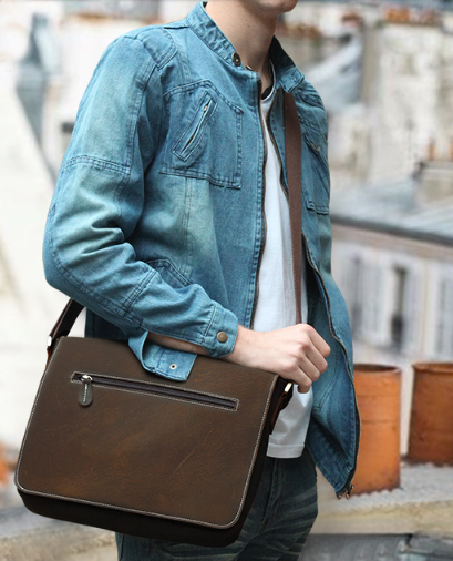 Handmade Hand Stitched Leather Messenger Bag, Mens Messenger Bag, Leather Accessories For Men and Women(C09)