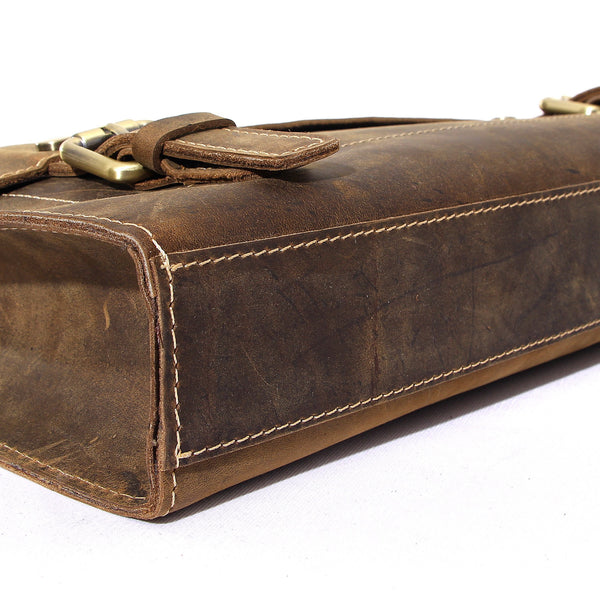 Handcrafted Rustic Leather Laptop Bag, Business Briefcase, Mens Briefcase Men Messenger Bag S03