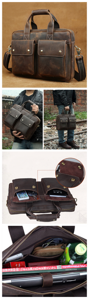 Handmade Professional Handmade Satchel Bag , Messenger Bag(C15)