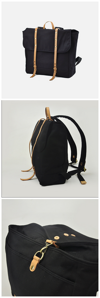 Women&men  Canvas Leather  Rucksack Hiking Bag (L04)
