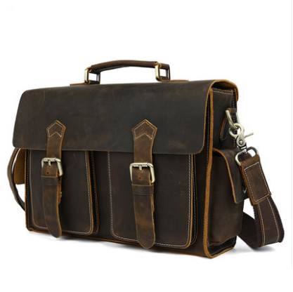 Hand Stitched Leather Messenger Bag, Mens Messenger Bag, Leather Accessories For Men(C28)