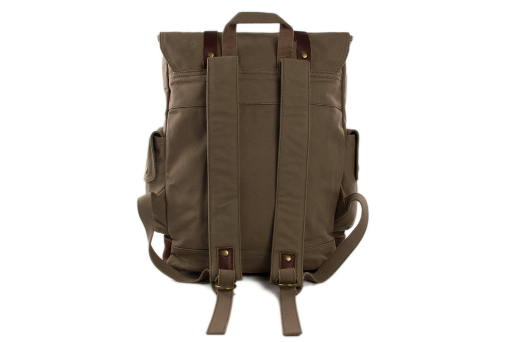 62080ab52302 ... Waxed Canvas Leather Backpack