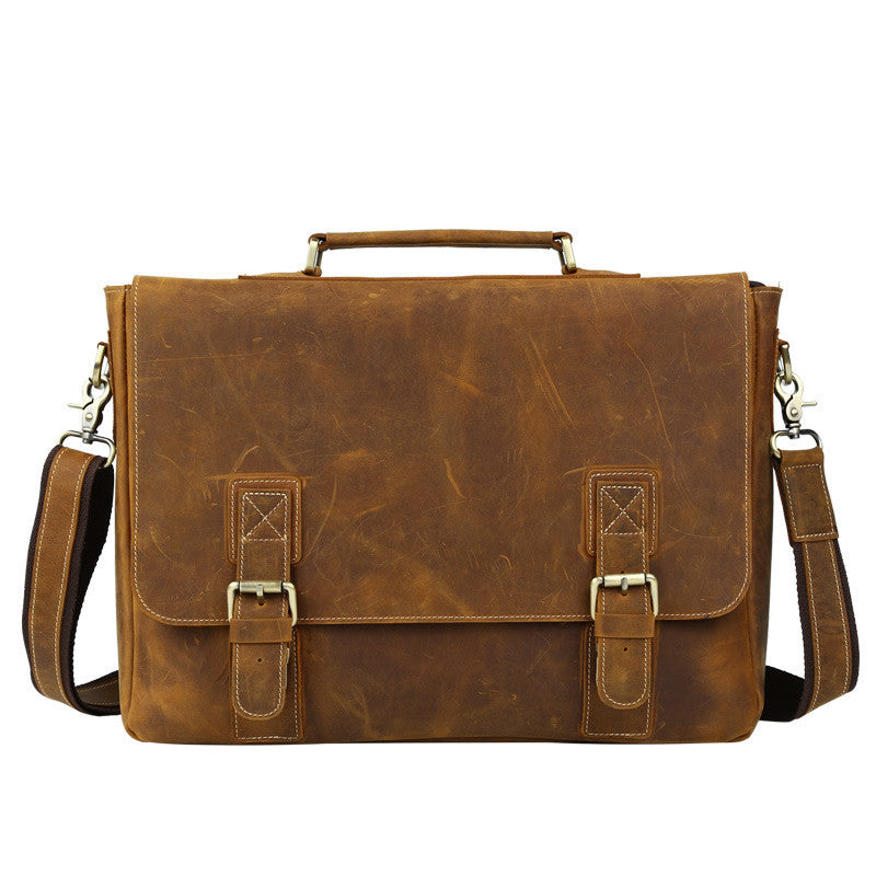 2c57d50ce4e7 Men s Handmade Vintage Leather Briefcase   Leather Messenger Bag   17