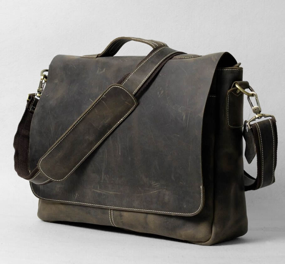 6ef5bdea08b3 Handmade Vintage Leather Briefcase   Leather Messenger Bag   13