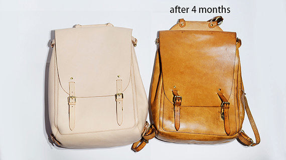 Natural leather backpack - mens backpack / womens backpack/leather backpack laptop