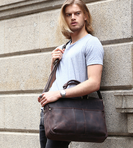 Hand Stitched Leather Messenger Bag, Mens Messenger Bag, Leather Accessories For Men (c27)