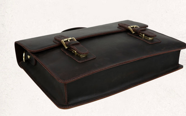 Handmade Leather messenger bag, leather shoulder bag, leather briefcase (C1-9)