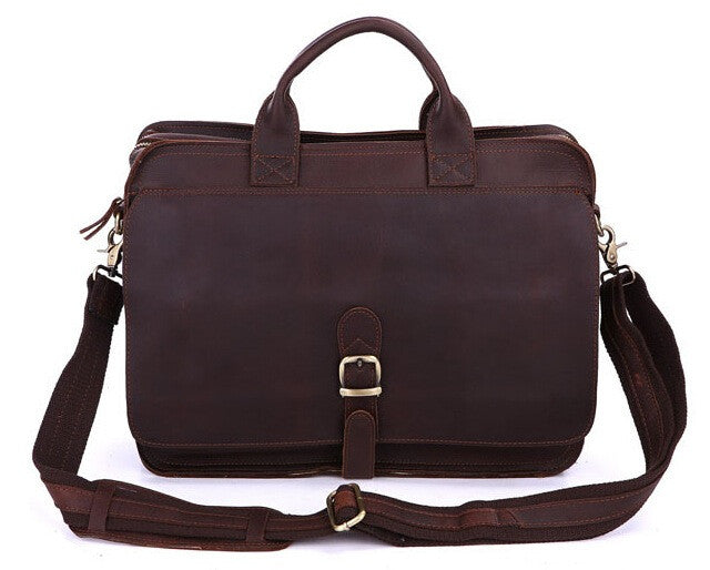 ... Mens Genuine Leather Briefcase Laptop Tote Bags Shoulder Business  Messenger Bags (J26) ... 5bddf1cca4d59
