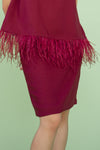 Bella Skirt in Marsala Red