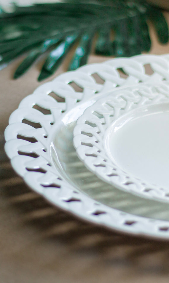 Aerin Dinner & Salad Plate in Ivory (for Pre-order)
