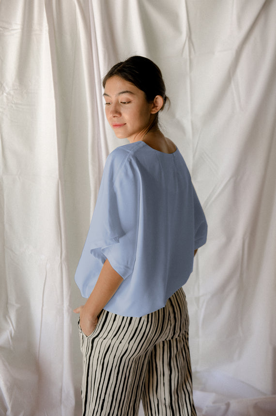 Gabriella Top in Carolina Blue