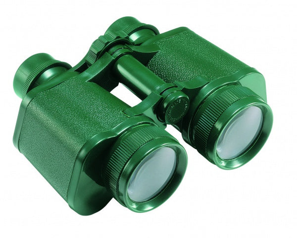 Green Binoculars in case