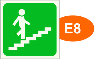 E8, E9 STAIRCASE UP, DOWN (single sided)