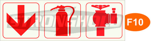 F10, F11, F12 - ARROW, EXTINGUISHER, HYDRANT (Framed)