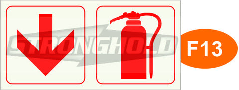F13, F16, F19 - ARROW & EXTINGUISHER (UnFramed)