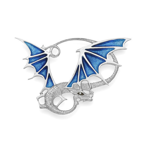 Khaleesi Dragon Brooch in Silver