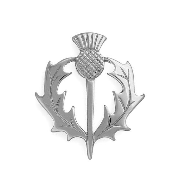 Scottish Thistle Heritage Brooch in Sterling Silver