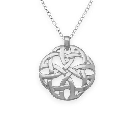 Celtic Knot Work Round Eternal Weave Pendant