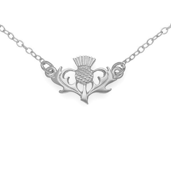 Thistle Necklace In Silver