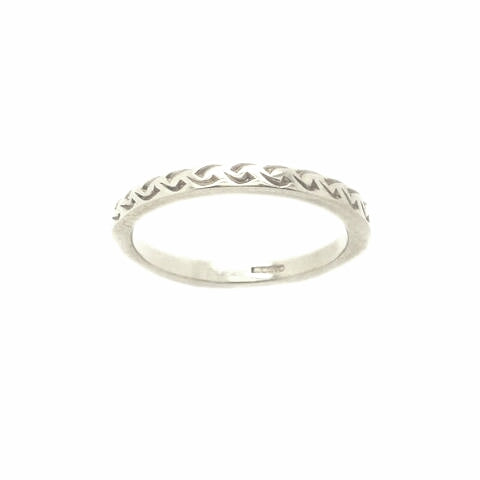 Modern Celtic Design Ring in Silver