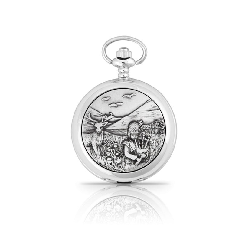 Scottish Highlander Scene Pocketwatch
