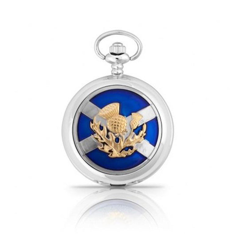 Scottish Flag Saltire Thistle Pocketwatch