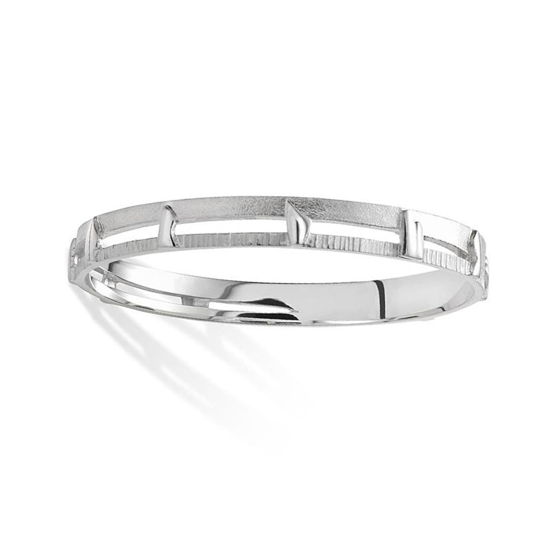Standing Stones Bangle in Sterling Silver