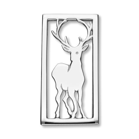 Stag Brooch in Silver