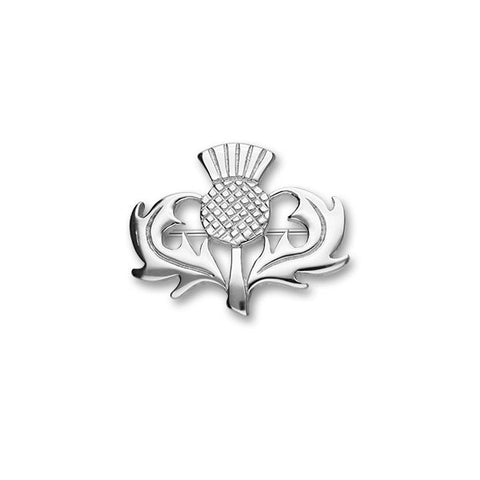 Classic Thistle Brooch in Sterling Silver