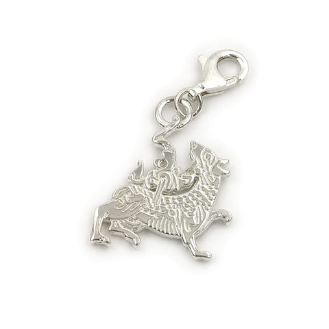 Viking Maeshowe Dragon Charm in Silver