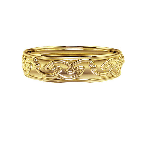Celtic Flow Edinburgh Wedding Ring