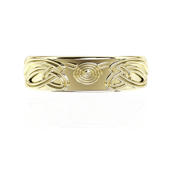 Celtic Spiral Viking Wedding Ring