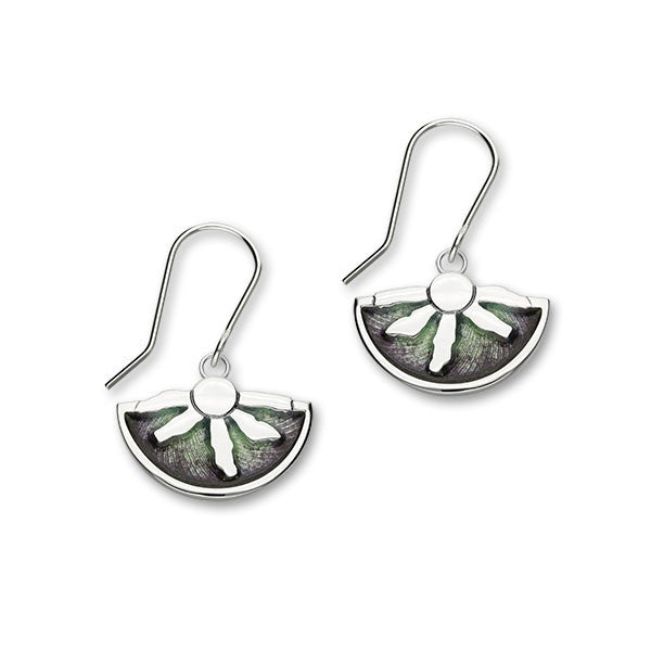Ring of Brodgar Standing Stones Aurora Sterling Silver fan Drop Earrings