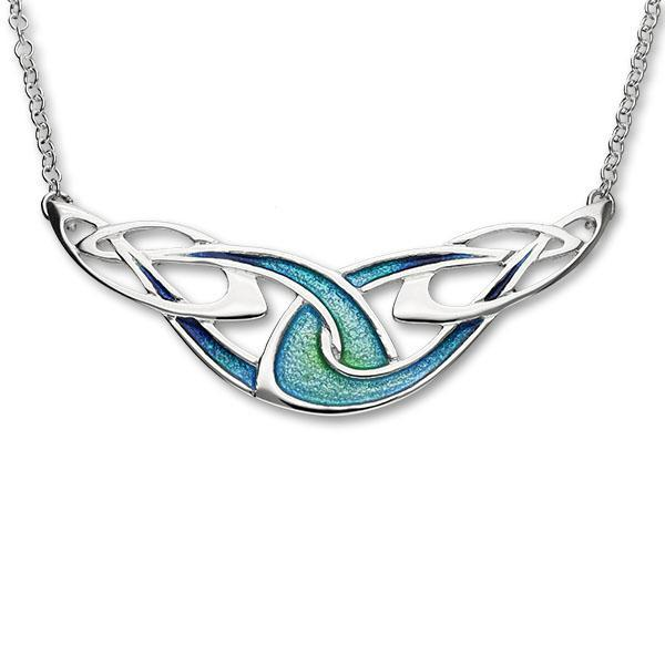 Silver Archibald Knox Celtic Torque Necklace