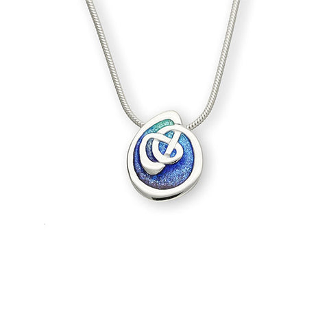 Archibald Knox Celtic Enamelled Pendant in Sterling Silver
