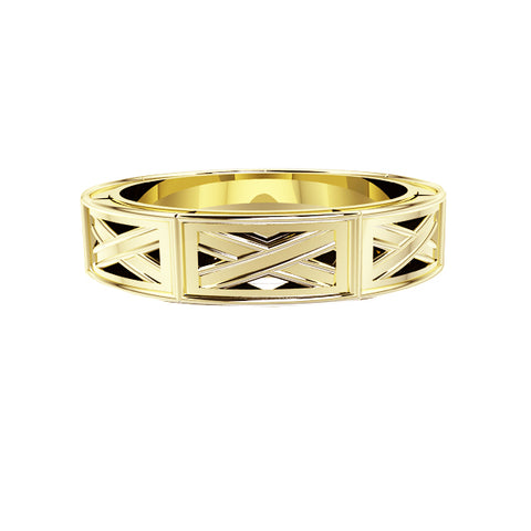 Edinburgh Saltire Wedding Ring