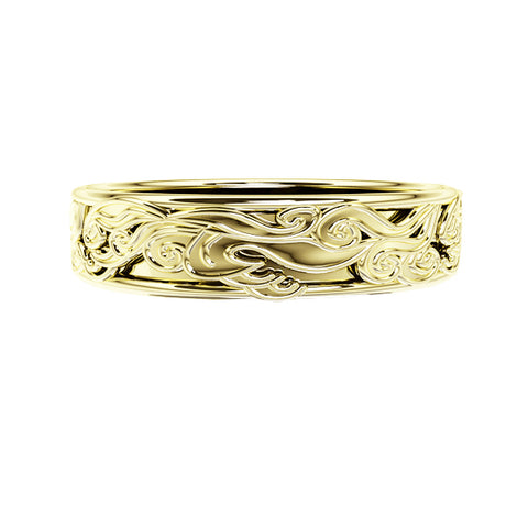 Edinburgh Waves Wedding Ring