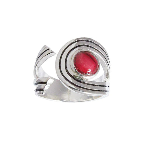 Heathergems Swirl Ring in Silver