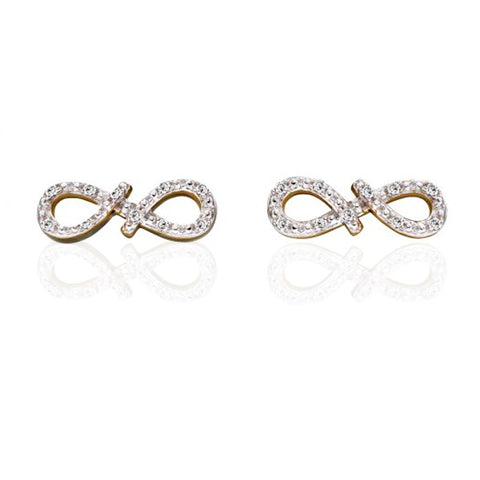 INFINITY FLOW DIAMOND STUD EARRINGS