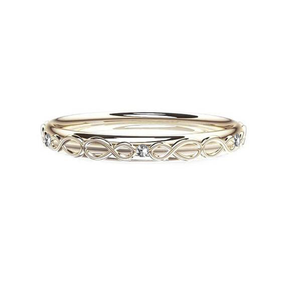 Scottish Infinity Diamond Celtic Wedding Ring
